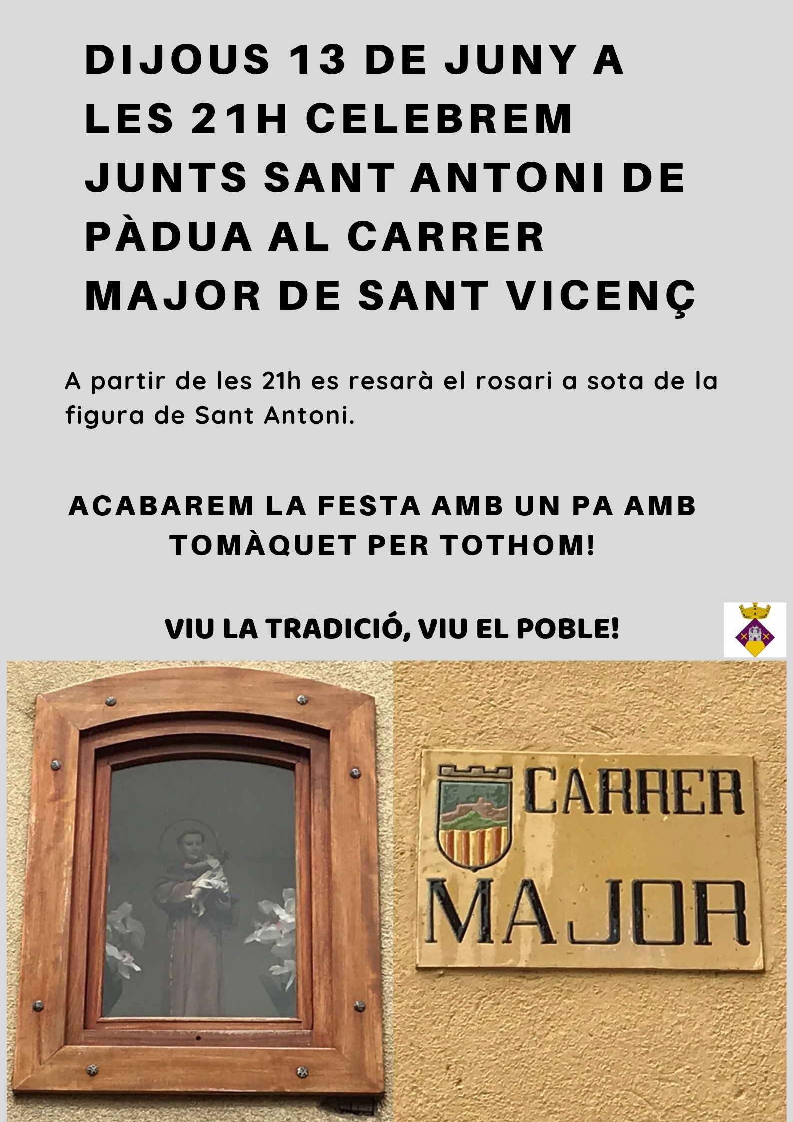 Sant Antoni de Pàdua al Carrer Major